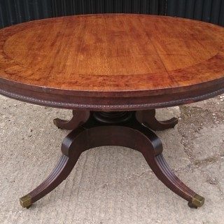 Early 19th Century Regency Oak Centre Table or Breakfast Table