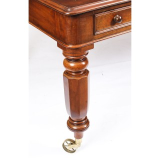 Antique William IV 6ft Mahogany Partners Library Table Desk c.1835 19th Century
