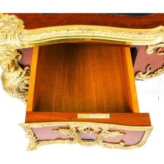 Antique French Ormolu Mounted Bureau Plat Desk Writing Table 19th C