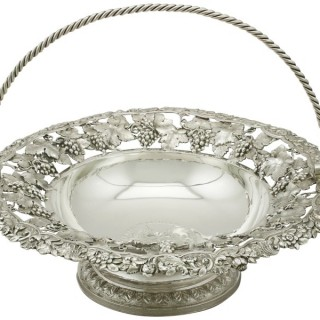 Sterling Silver Fruit Basket - Antique George IV (1821)