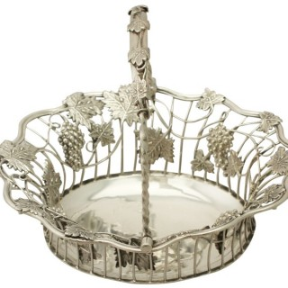 Sterling Silver Sweetmeat Basket - Antique George III (1764)