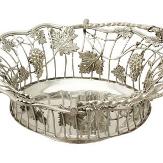 Sterling Silver Sweetmeat Basket - Antique George III (1764)