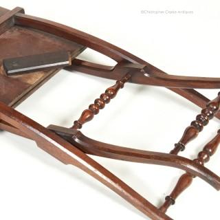 Folding  Mahogany Coaching Table