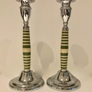 Pair of Art Deco Candlesticks
