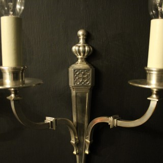 English Set Of 4 Twin Arm Antique Wall Lights