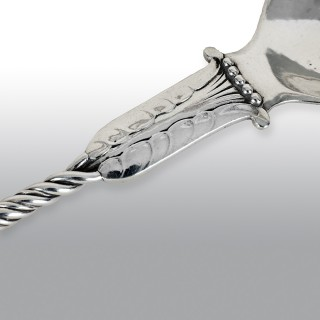 Georg Jensen Owl Serving Spoon and Fork No.39