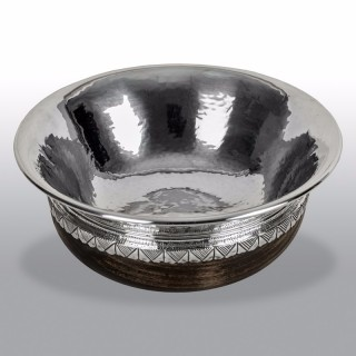 Silver Mounted Mazer Bowl by Albert Edward Jones