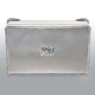 Silver Cigar Box / Cigarette Box