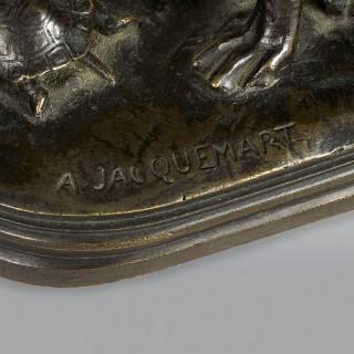 Henri Alfred Marie Jacquemart Hound and Tortoise