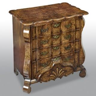 18th Century Dutch Burr Walnut Commode