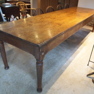 Table refectory dining Victorian Oak from Abbotts Bromley School