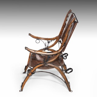 An Unusual Early 20th Century Chair Made from Horse Hames