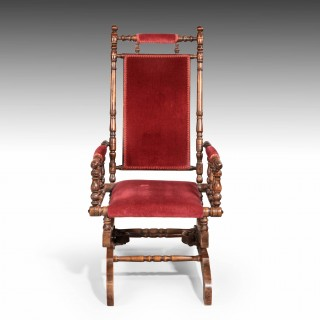 A Good Late 19th Century American Rocking Chair