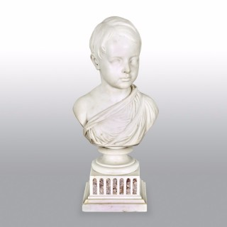 19th Century Italian Grand Tour Marble Bust of a Young Boy