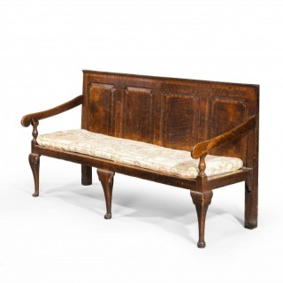 A Good Quality and Original Mid 18th Century Large Oak Bench