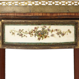 Neoclassical style gilt bronze mounted wooden side table