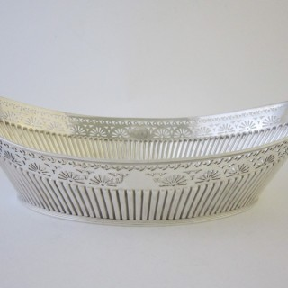 Antique Victorian Sterling silver bread basket