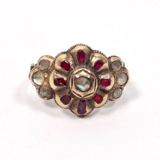 18th Century Spanish Ruby and Diamond Ring