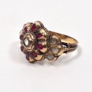 18th Century Spanish Ruby and Diamond Ring
