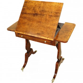 English Regency Rosewood Reading Table 19th Century