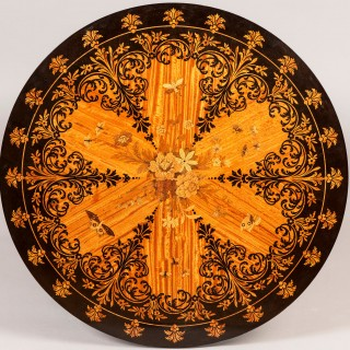 A Satinwood Marquetry Occasional Table