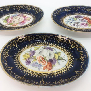 Four Regency Hand Painted Porcelain Dishes by Coalport, circa 1805