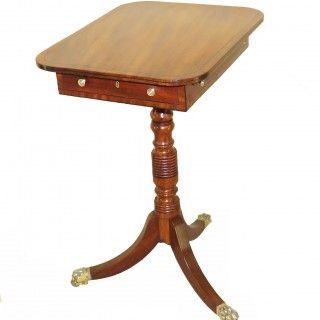 Georgian Antique Mahogany Oblong Lamp Table