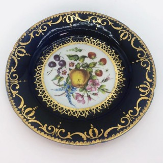 Six Regency Hand Painted Porcelain Plates by Coalport, circa 1805