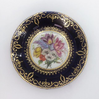 Five Regency Hand Painted Porcelain Plates by Coalport, circa 1805