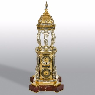 French Gilt Bronze Automaton Wallace Fountain Clock