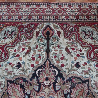 Antique Lavar Kirman carpet