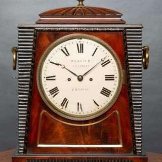 Regency Rosewood  Fusee Bracket Clock by Webster, Cornhill, London in the style of Thomas Hope