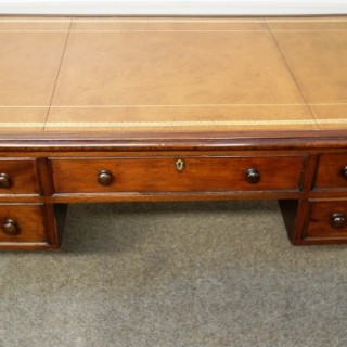 Large, Irish, Georgian Mahogany Partners Library Desk