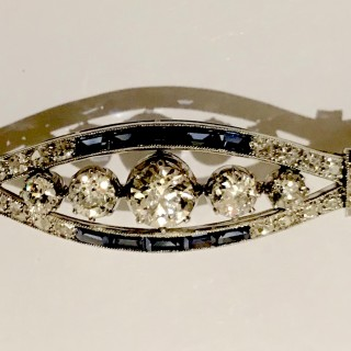 Large Art Deco Diamond Brooch