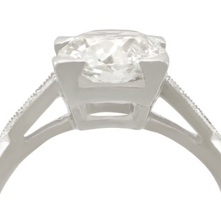 1.74 ct Diamond and Platinum Solitaire Ring - Antique and Contemporary