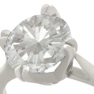 1.28 ct Diamond and Platinum Solitaire Ring - Vintage Circa 1990 and Contemporary