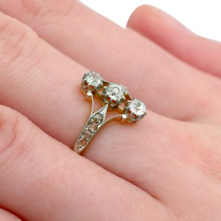 0.70ct diamond and 18ct Rose Gold Trilogy Ring - Antique Circa 1910