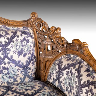 An Elaborately Carved early 20th Century 2 Seater Settee