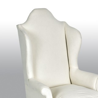 Pair of 18th Century Style Wing Chairs