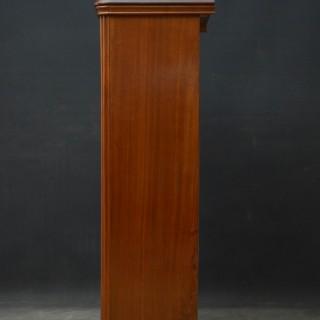 Slim Victorian Open Bookcase in Walnut