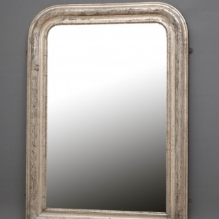 Rare 19th Century Louis Philippe Silver Gilt Wall Mirror