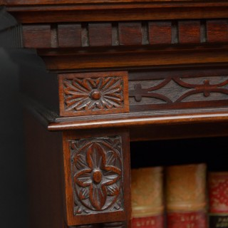 Edwardian Open Bookcase in Chippendale Style