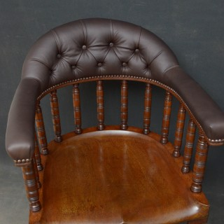 Pair of Edwardian Desk Chairs in Mahogany