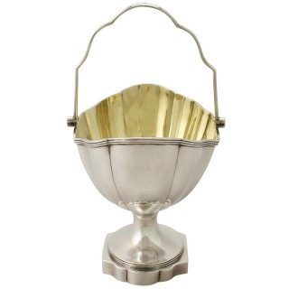 Sterling Silver Sugar Basket - Antique George III