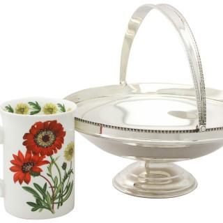 Sterling Silver Cake / Fruit Basket - Antique George V