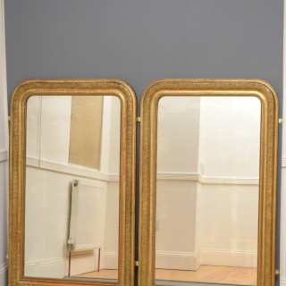Pair of 19th Century Giltwood Mirrors