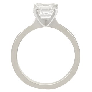 2.00 ct Diamond and Platinum Solitaire Ring - Contemporary