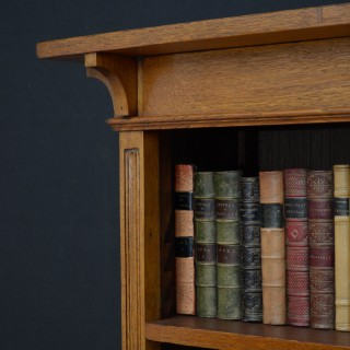 Arts and Craft Oak Open Bookcase