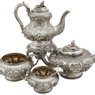 Sterling Silver Four Piece Tea and Coffee Service - Antique George IV