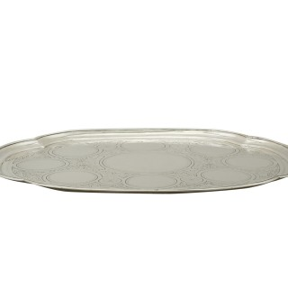 Russian Silver Drinks Tray - Antique 1871
